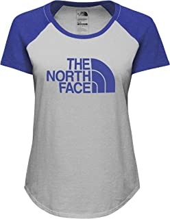 The North Face Women's W S/S Half Dome Baseball TEE TNF Light Grey Heather/Amparo Blue Heather