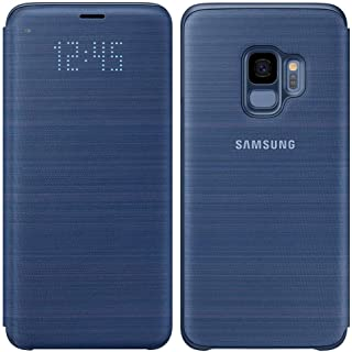 Official OEM Samsung Galaxy S9 LED View Wallet Cover (Blue)