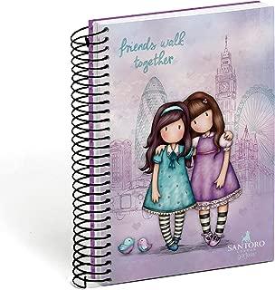 Agenda Escolar 2018-2019 Gorjuss - Friends Walk Together, rosa