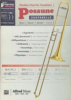 Alfred's Fingering Charts Instrumental Series / Zugtabelle Posaune | Position Chart for Trombone: Zweisprachige Zug- und G...