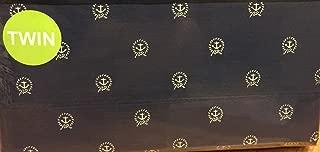 Nautica Twin Sheet Set White Anchor Circle on Navy Blue