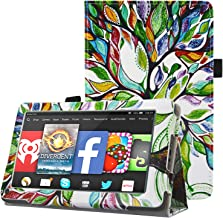 Kindle Fire 2011 Tablet Case - HOTCOOL Slim Folding Stand Cover for Amazon Original Kindle Fire (Previous 1st Generation 2011) Tablet, Happy Tree