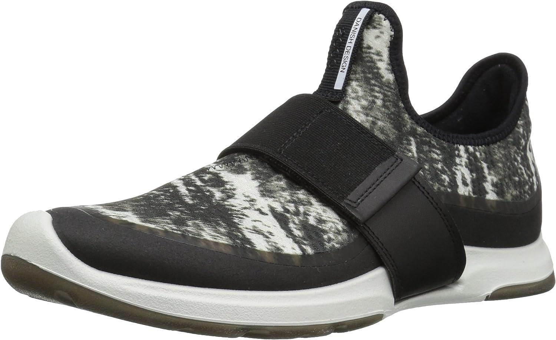 ECCO Woherren Woherren Biom AMRAP Strap Fashion Fashion Turnschuhe, schwarz schwarz Weiß, 40 EU 9-9.5 US  große Auswahl und schnelle Lieferung