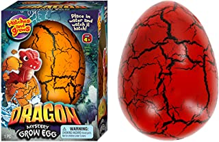 JA-RU Easter Egg Toy XXL Magic Grow Dragon Hatching Eggs Toy (1 Assorted Egg) Easter Party Toy for Boys and Girls Kids Par...