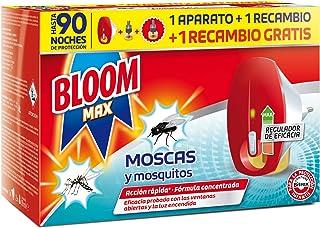 Bloom max insecticida Electrico Líquido contra moscas y mosquitos común y tigre 1 Aparato + 2 R...