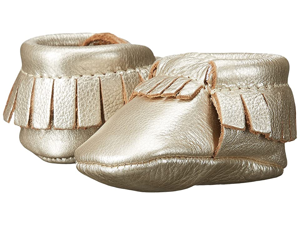 Freshly Picked Soft Sole Moccasins (Infant/Toddler) (Platinum) Girls Shoes