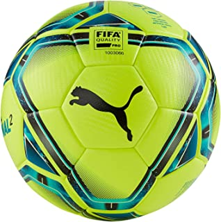 TEAMFINAL 21.2 FIFA Quality PRO Ball, Lemon Tonic-Spectra Green-Ocean Depths-Puma Black-Omphalodes
