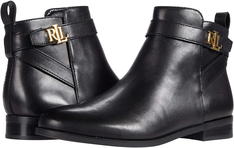 Lauren Ralph Lauren Women's Mid Calf Boot, Black, 9
