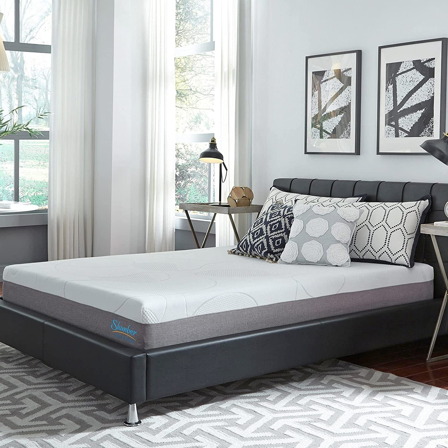 Slumber Solutions 10-inch Gel shopping Memory Foam Choose Comfort Your Tampa Mall Ma