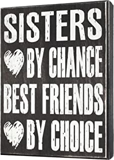 Sister Gifts from Sister, Sign, Sisters By Chance Best Friends By Choice, Sentimental Gift, Plaque, Wall Art- Sister Bond...