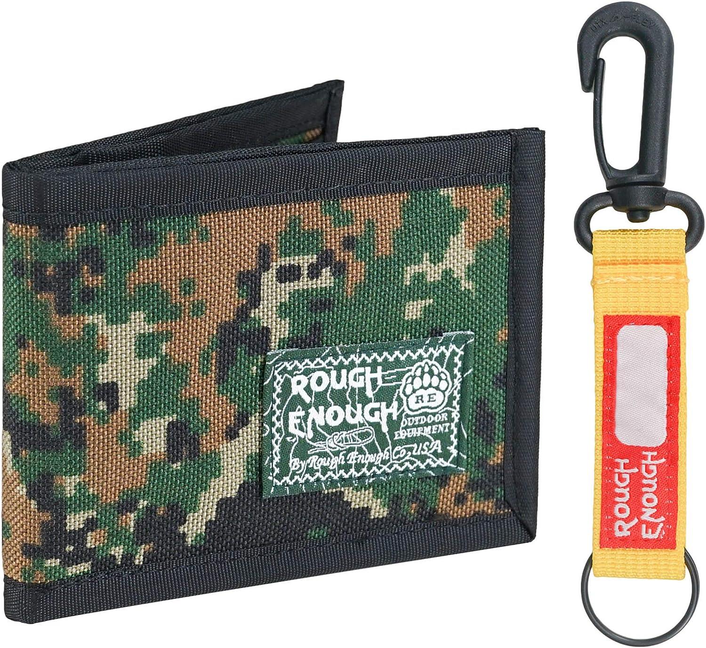 Rough Enough Kids Wallet for Teen Boys Mens Slim Bifold Card Keychain Camo