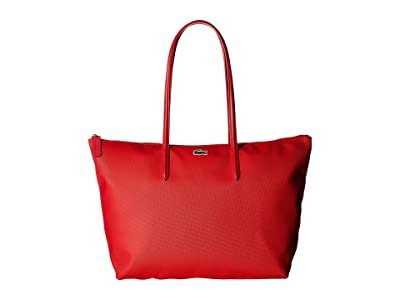 Lacoste L.12.12 Concept Large Shopping Bag (High Risk Red) Tote Handbags