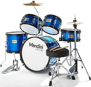 Mendini By Cecilio Drum Set For Kids/Junior – 16-Inch, 5-Piece, Blue Metallic..