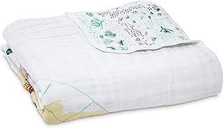 aden + anais Blanket, Around Map, 0 To 36 Months, White/Multi-coloured, Piece of 1