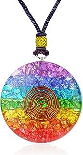 7 Chakra Rainbow Orgone Crystal pendant for Strengthen Immune System - Heart - Self Confidence – Positivity- Emotional Body Purification