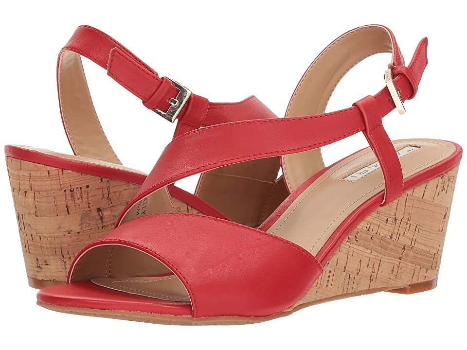 Tahari Sally (Coral Red Leather) Women