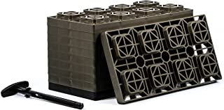 Camco FasTen 4×2 Leveling Block For Dual Tires, Interlocking Design Allows Stacking..
