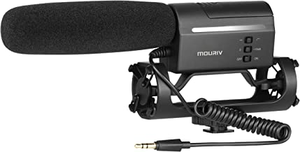 Mouriv VMC355 Video Condenser Shotgun Mic Professional Photography Interview Microphone On-Camera Recording Mic for Canon EOS T6i Nikon D3300 Sony A9 Pentax DSLR Cameras (Fur&Foam Windscreen Included)