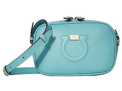 Salvatore Ferragamo City Crossbody (Turquoise) Cross Body Handbags