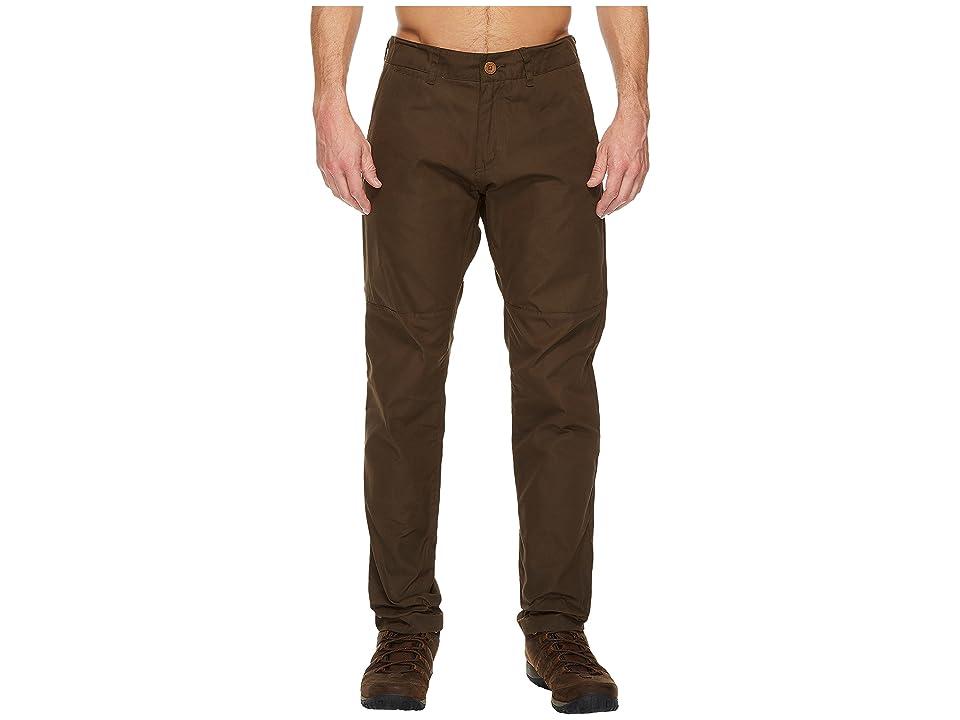 Fjallraven Sormland Tapered Trousers (Dark Olive) Men