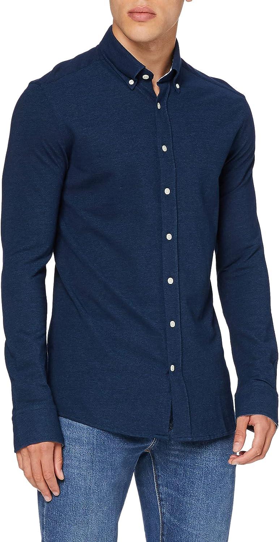 Hackett London Indigo Jersey Camisa para Hombre
