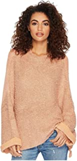Free People Womens Cuddle Up Knit Long Sleeves Pullover Sweater