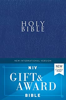 NIV, Gift and Award Bible, Leather-Look, Blue, Red Letter Edition, Comfort Print