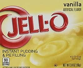 JELL-O Jello Instant Pudding and Pie Filling 4 Boxes (Vanilla)3.4 net oz
