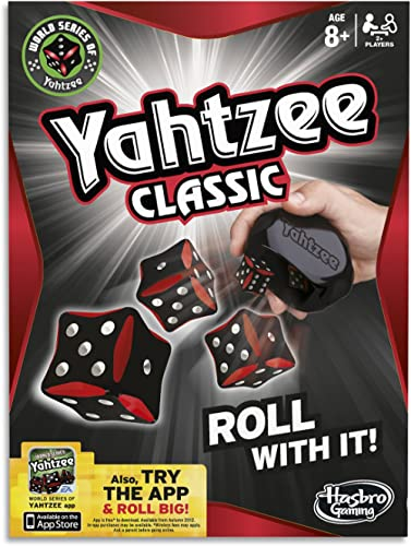 Yahtzee Classic Dice Game - Family Board and Table Games - iPhone App Available - Ages 8+