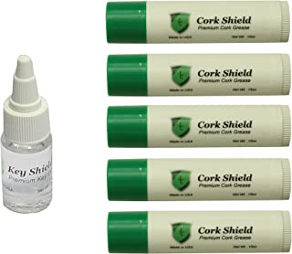 Instrument Clinic Premium Cork Grease (5 pack) with Key Oil, for Clarinets, Made in USA!