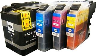 【純正品同様ブラック顔料系インク】ブラザーLC119/115-4PK互換インク LC119BK(顔料)/LC115C/LC115M/LC115Y 4本セット BK顔料増量 DAIMARU
