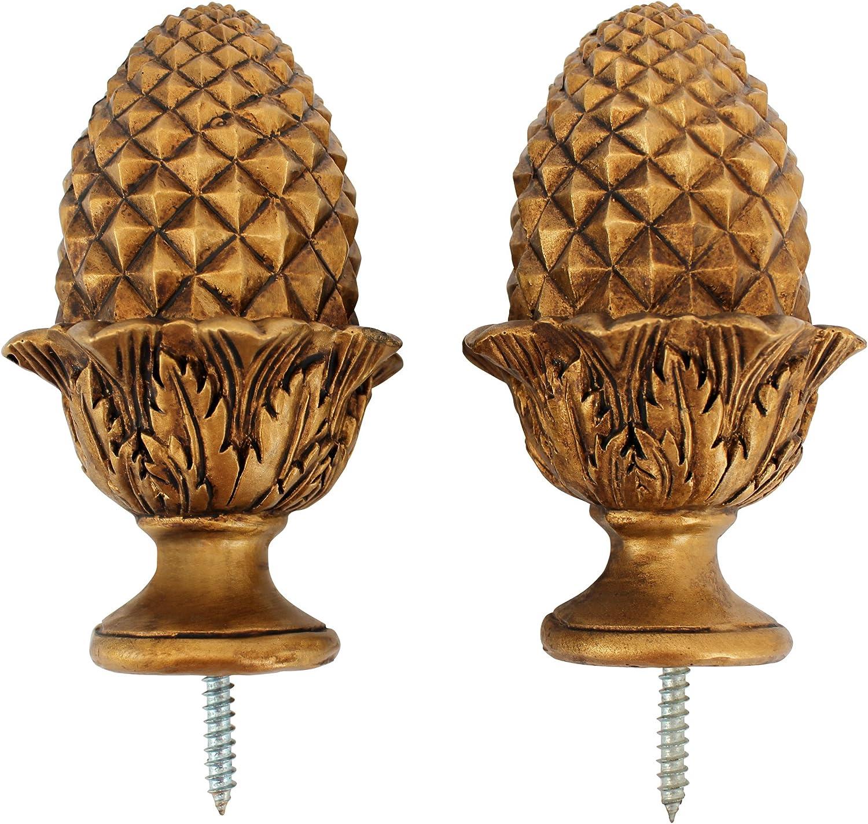 Design Toscano NG2955315 Golden Acorn Finials, gold