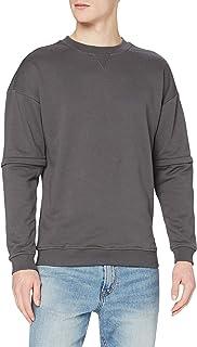 Urban Classics Sweatshirt Zip Away Oversized Terry Crew Pullover Maglione Uomo