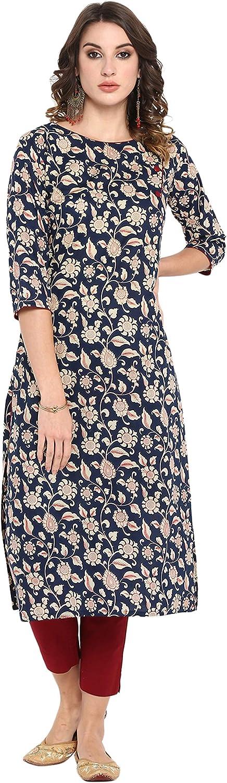 Max 51% OFF Janasya Women's Nippon regular agency Blue Cotton with Pant Kurta