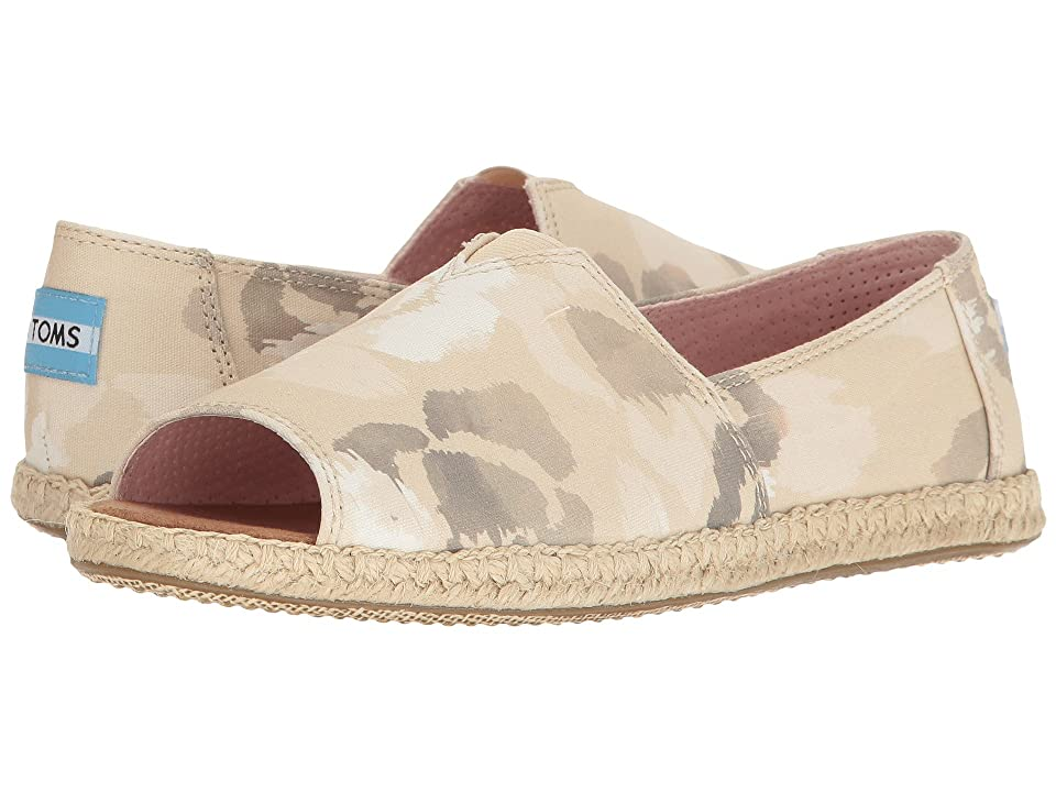 TOMS Alpargata Open Toe (Natural Watercolor Floral) Women
