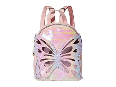 OMG! Accessories Butterfly Sequins Mini Backpack (Pink) Backpack Bags