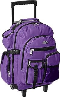Everest Deluxe Wheeled Backpack, Dark Purple (Purple) - 5045WH-DPL
