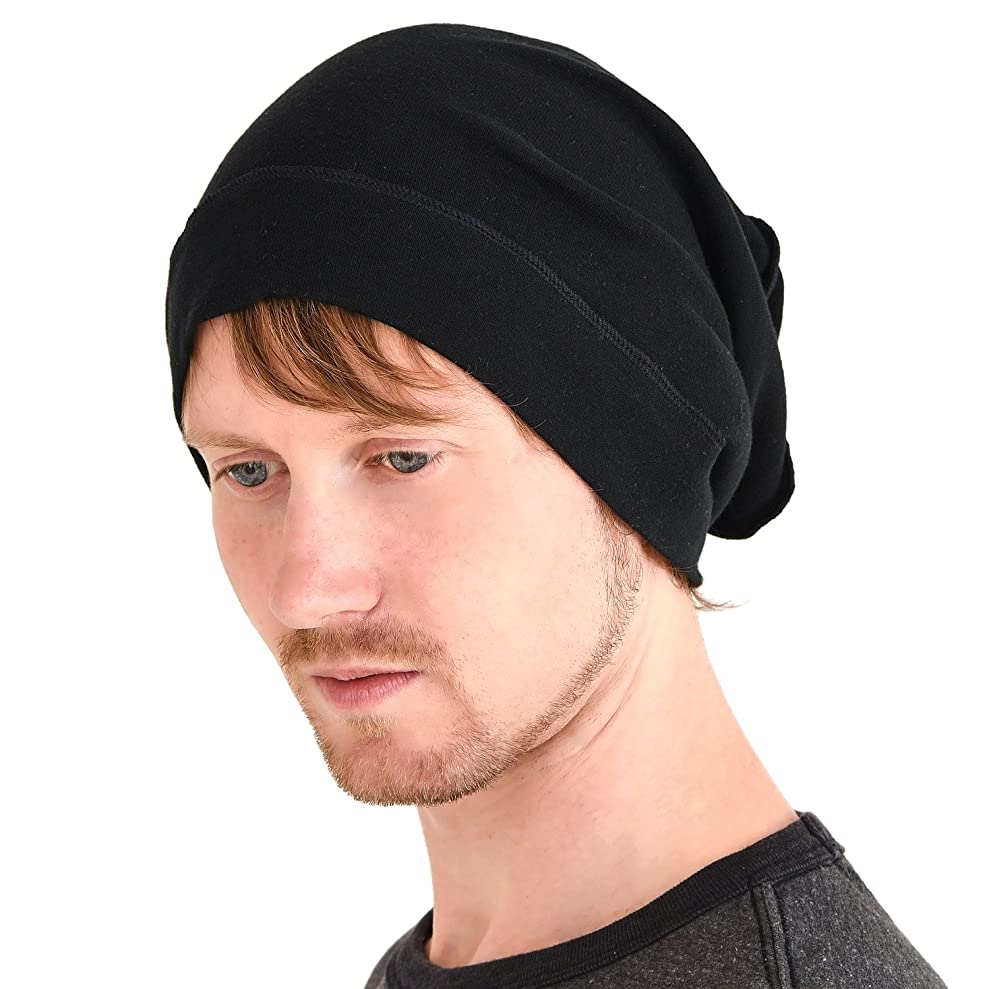 CHARM Mens Slouch Beanie Hat - Womens Organic Cotton Hipster Chemo Knit Casualbox gfvgswsaa1441