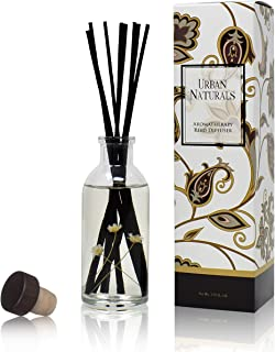 Urban Naturals Seaside Cotton Reed Diffuser Scented Sticks Set | (Peace + Harmony) Mind & Body Aromatherapy Collection | E...