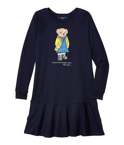Polo Ralph Lauren Kids Raincoat Bear Terry Dress (Little Kids/Big Kids) (Hunter Navy) Girl