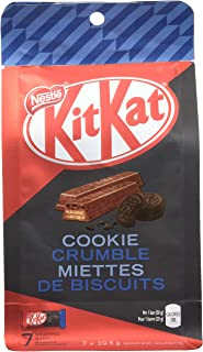 Nestle Kit Kat Cookie Crumble Chocolate, 7 Individually Wrapped Bars, 19.5g each {Imported from Canada}