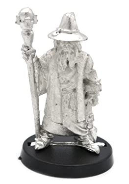 Stonehaven Human Wizard Male Miniature Figure (for 28mm Scale Table Top War Games) - Made in US