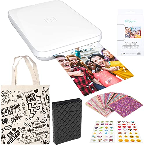new arrival Lifeprint outlet online sale 3x4.5 Portable online Photo and Video Printer (White) Sticker Edition online