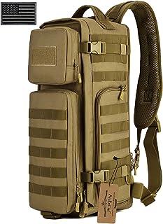 ArcEnCiel Tactical Sling Bag Pack Military Shoulder Backpack EDC Molle Assault Range Bags Day Packs with Patch