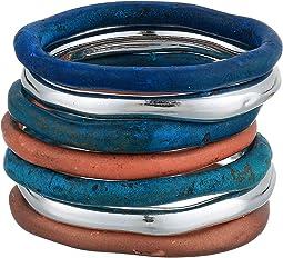 Mixed Patina Sculptural Ring Set