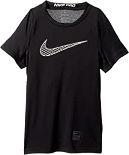 140adf284370 Black Black White White. 24. Nike Kids. Pro Fitted Short Sleeve Training ...