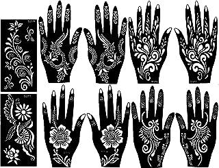 Ivana's Tatto Stencil for   Hand   Body   Face   Heena Art Temporary Tatto for Girls & Women, Design No. 1009