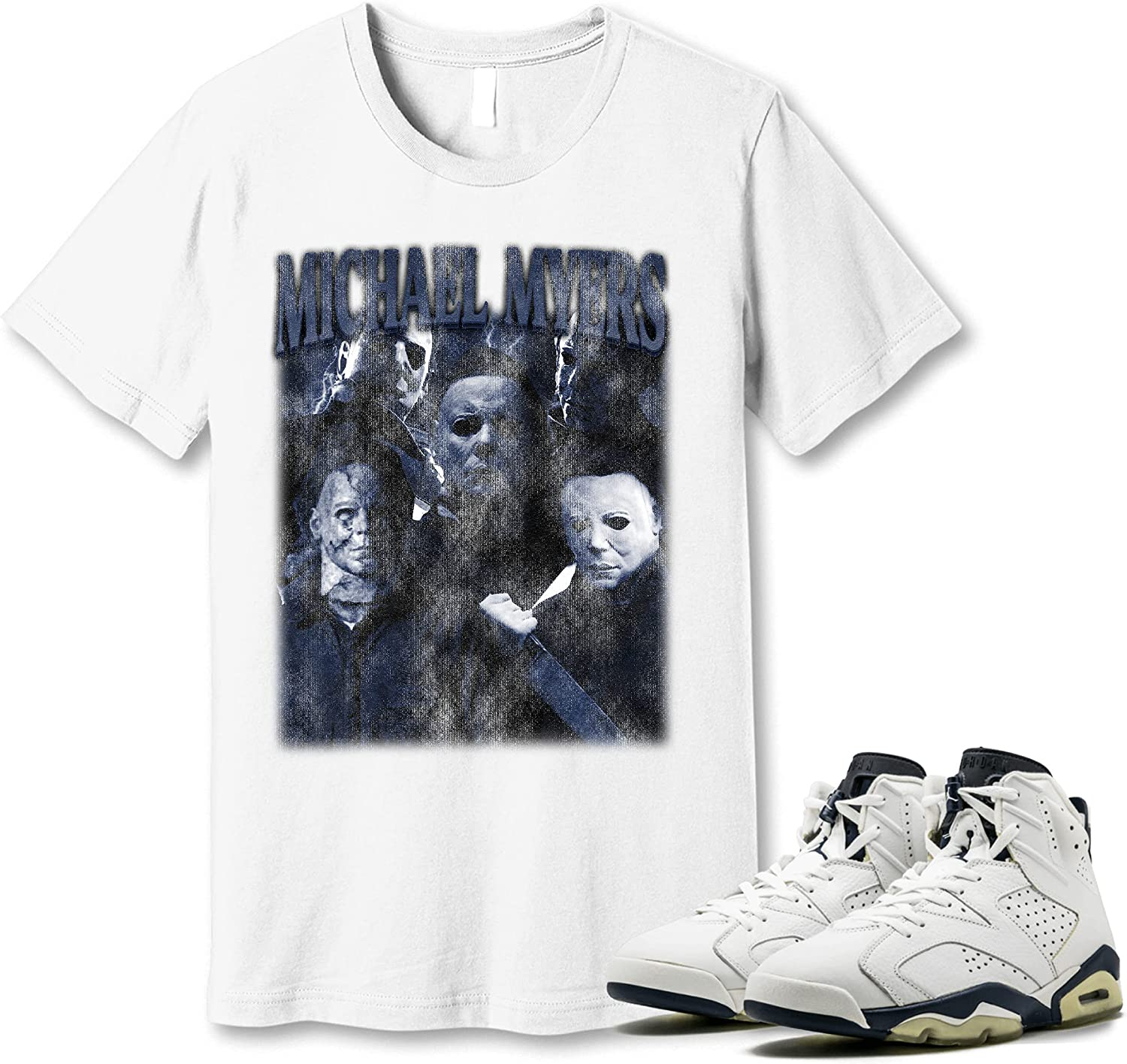 #Michael #Myer Shirt to Cheap mail order sales Match Jordan Navy Midnight 6 Special Campaign Gif Sneaker
