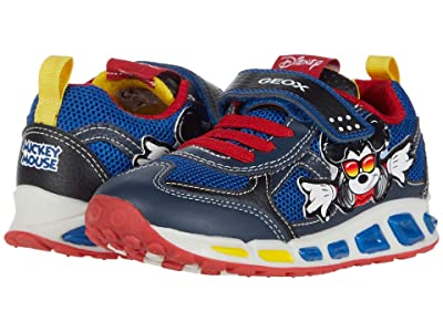 Geox Kids Shuttle 16 Mickey Mouse (Toddler/Little Kid) (Navy/Red) Boy
