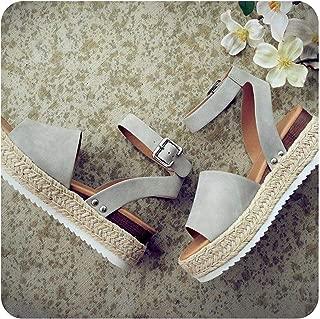Surprise S Woman Summer Sandals Shoes Casual Women's Rubber Sole Studded Ankle Strap Open Toe Sandals